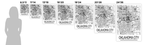 Oklahoma City Map Poster - usa Map Print - Art Deco Series