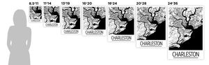 Charleston Map Poster - usa Map Print - Art Deco Series