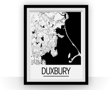 Duxbury Map Poster - Massachusetts Map Print - Art Deco Series
