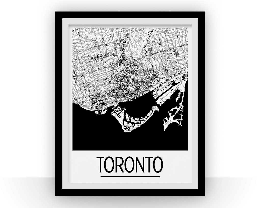 Toronto Map Poster - canada Map Print - Art Deco Series
