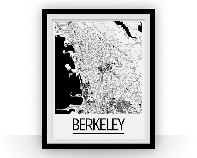 Berkeley Map Poster - California Map Print - Art Deco Series