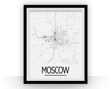 Moscow ID Map Poster - Idaho Map Print - Art Deco Series