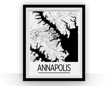 Annapolis Map Poster - Maryland Map Print - Art Deco Series