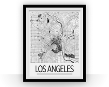 Los Angeles Map Poster - usa Map Print - Art Deco Series