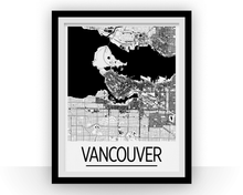 Vancouver Map Poster - canada Map Print - Art Deco Series
