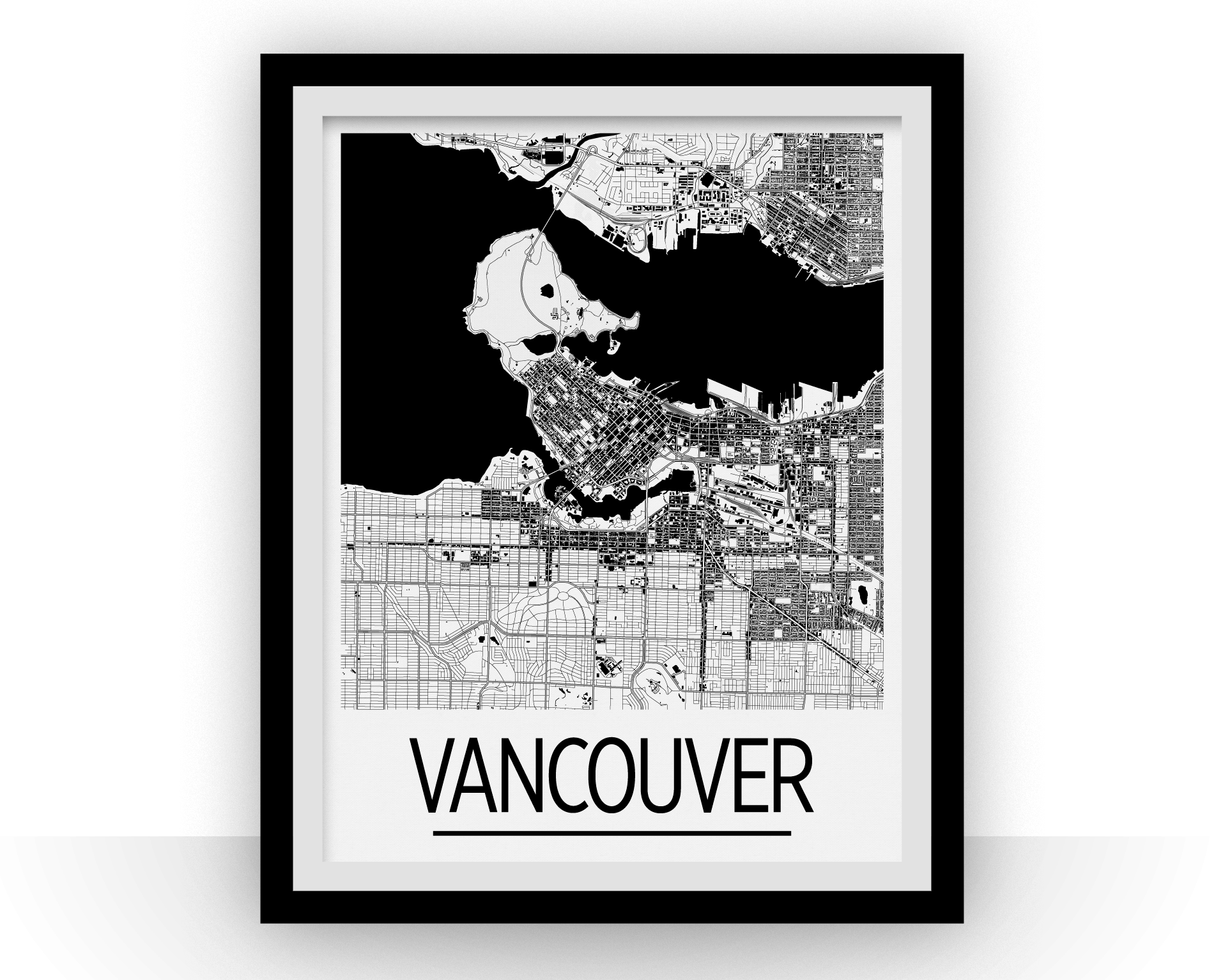 Vancouver map poster canada map print art deco series ilikemaps vancouver map poster canada map print art deco series gumiabroncs Gallery