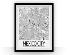 Mexico City Map Poster - mexico Map Print - Art Deco Series
