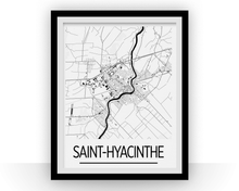 Saint Hyacinthe Quebec Map Poster - Quebec Map Print - Art Deco Series