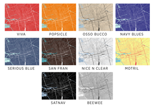Stockton Map Print - Choose your color