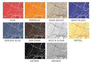 Newark Map Print - Choose your color