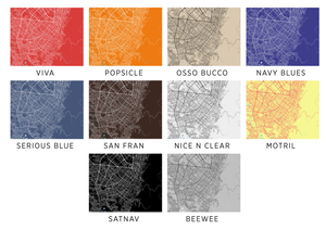 Bogota Map Print - Choose your color
