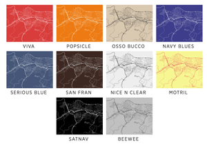 Caracas Map Print - Choose your color