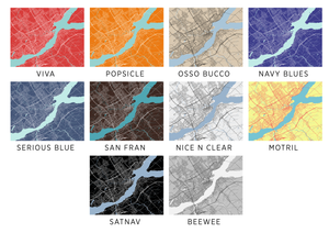 Quebec Map Print - Choose your color