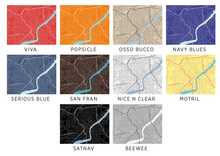Toledo Ohio Map Print - Choose your color