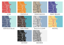 Chicago Map Print - Choose your color