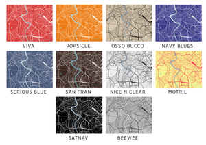 Rome Map Print - Any Color You Like