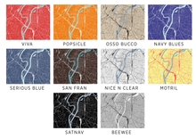 Lyon Map Print - Choose your color