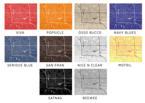 Phoenix Map Print - Choose your color