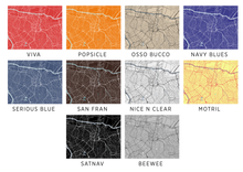 Sao Paulo Map Print - Choose your color