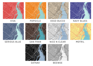 Montreal Map Print - Choose your color