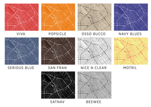 San Jose Map Print - Any Color You Like
