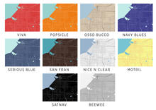Anchorage Map Print - Choose your color