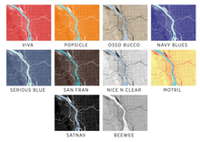 Portland Map Print - Choose your color
