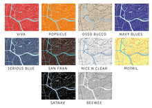 Guangzhou Map Print - Choose your color
