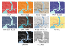 Jacksonville Map Print - Any Color You Like