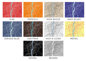 Cairo Map Print - Choose your color