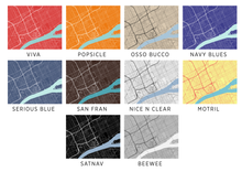 Detroit Map Print - Choose your color