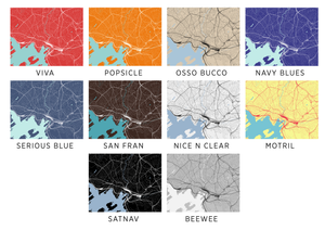 Oslo Map Print - Any Color You Like