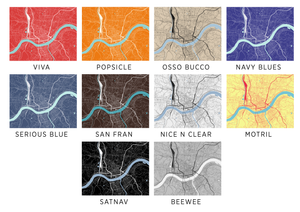 Cincinnati Map Print - Choose your color