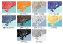 Singapore Map Print - Choose your color