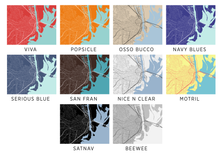 Mobile Map Print - Choose your color