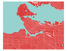Vancouver Map Print - Any Color You Like
