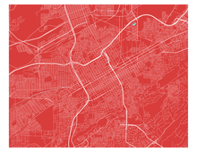 Birmingham Alabama Map Print - Choose your color