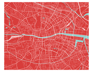 Dublin Map Print - Choose your color