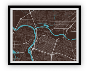 Sacramento Map Print - Choose your color