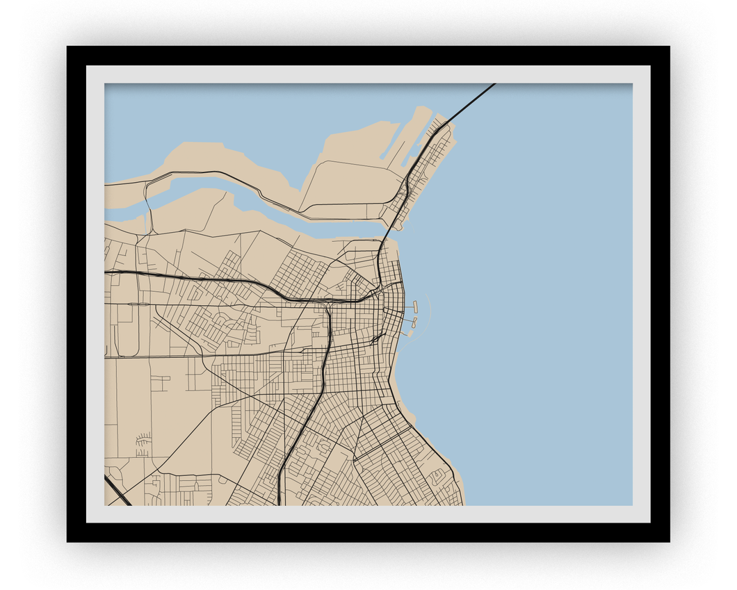 Corpus Christi Map Print - Choose your color