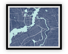 Ottawa Map Print - Choose your color