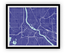 Minneapolis Map Print - Choose your color