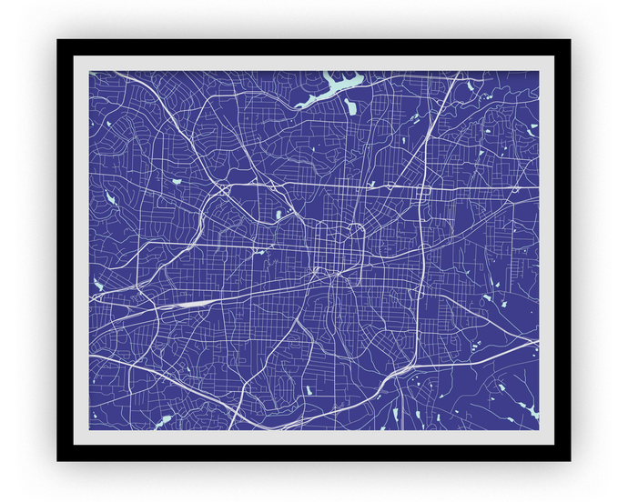 Greensboro Map Print - Choose your color