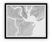 Charleston Map Print - Choose your color