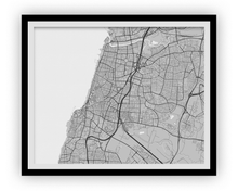 Tel Aviv Map Print - Choose your color