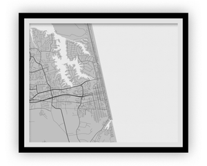 Virginia Beach Map Print - Choose your color
