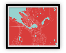 Bergen Map Print - Choose your color