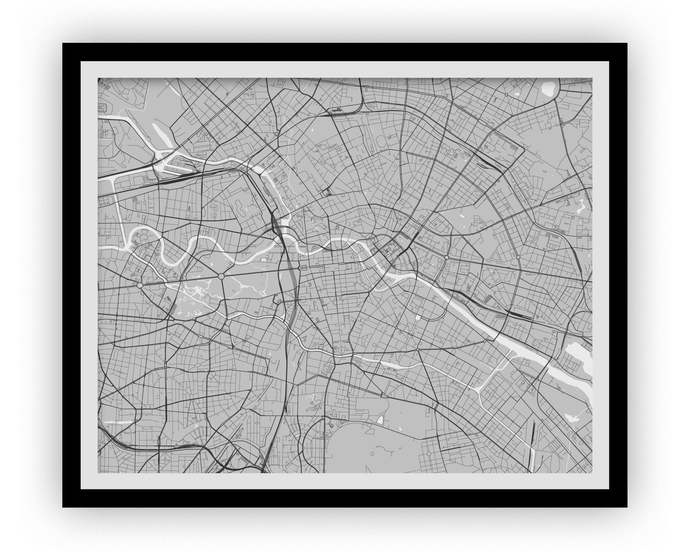 Berlin Map Print - Any Color You Like