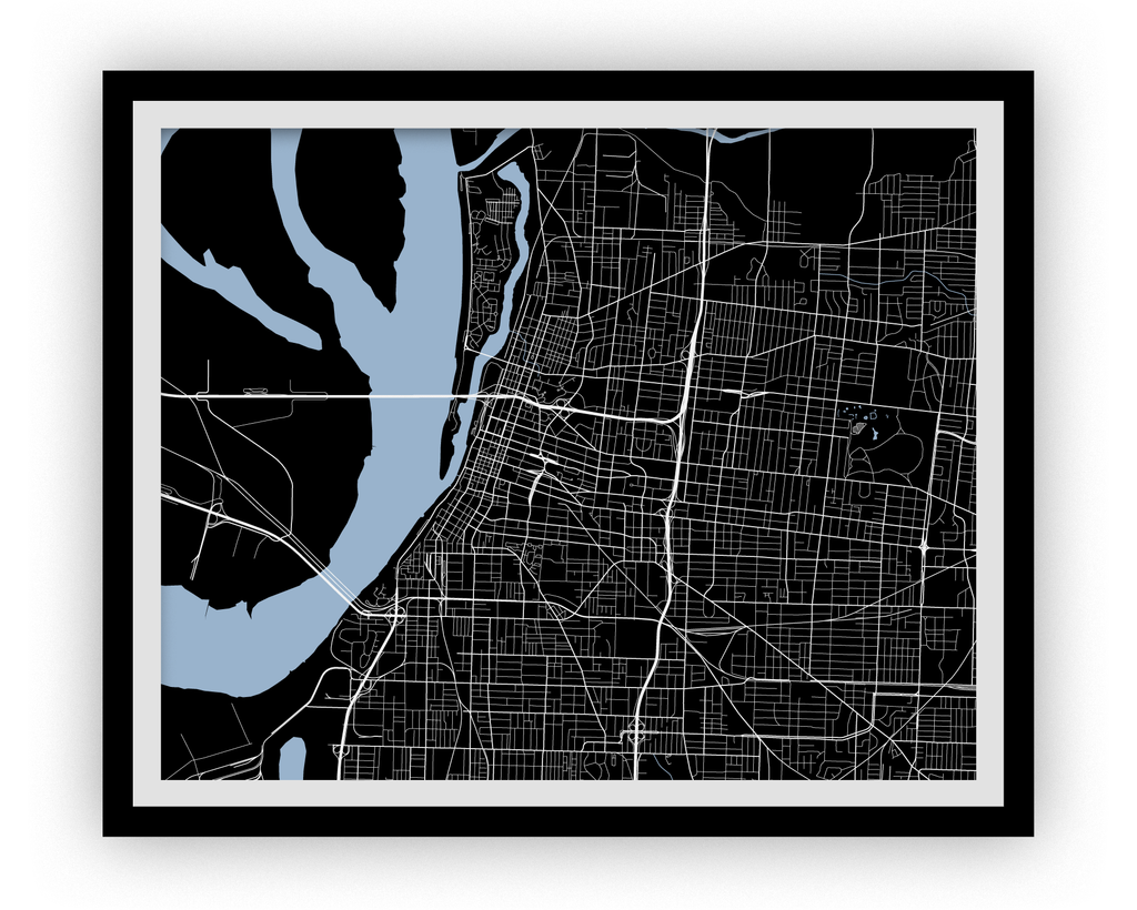 Memphis Map Print - Choose your color