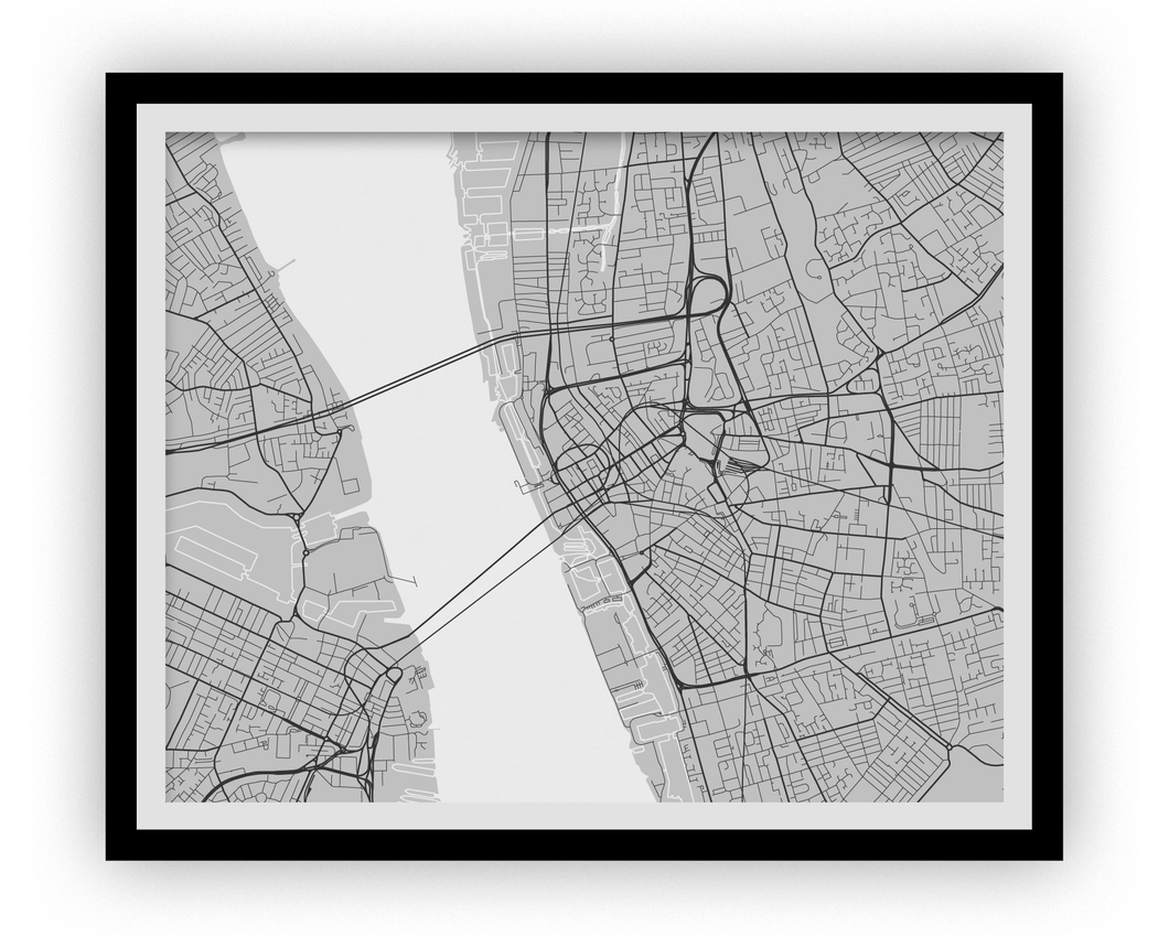 Liverpool Map Print - Choose your color